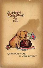 xms000077 - Christmas Post Card Old Vintage Antique Xmas Postcard