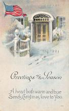 xms000085 - Christmas Post Card Old Vintage Antique Xmas Postcard