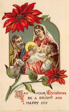 xms000095 - Christmas Post Card Old Vintage Antique Xmas Postcard