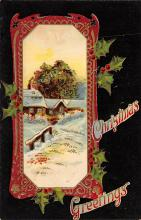 xms000097 - Christmas Post Card Old Vintage Antique Xmas Postcard