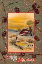 xms000101 - Christmas Post Card Old Vintage Antique Xmas Postcard