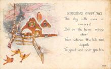 xms000105 - Christmas Post Card Old Vintage Antique Xmas Postcard