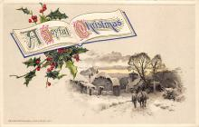 xms000111 - Christmas Post Card Old Vintage Antique Xmas Postcard