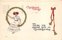 xms000113 - Christmas Post Card Old Vintage Antique Xmas Postcard