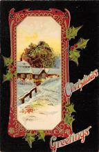 xms000125 - Christmas Post Card Old Vintage Antique Xmas Postcard
