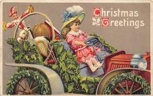xms000129 - Christmas Post Card Old Vintage Antique Xmas Postcard