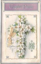 xms000131 - Christmas Post Card Old Vintage Antique Xmas Postcard