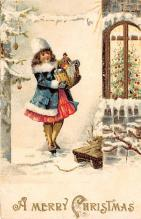 xms000137 - Christmas Post Card Old Vintage Antique Xmas Postcard