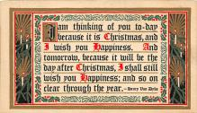 xms000143 - Christmas Post Card Old Vintage Antique Xmas Postcard