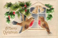 xms000145 - Christmas Post Card Old Vintage Antique Xmas Postcard