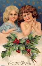 xms000153 - Christmas Post Card Old Vintage Antique Xmas Postcard