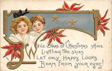 xms000155 - Christmas Post Card Old Vintage Antique Xmas Postcard