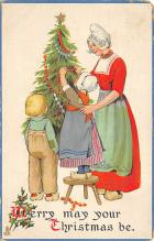 xms000161 - Christmas Post Card Old Vintage Antique Xmas Postcard
