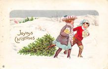 xms000167 - Christmas Post Card Old Vintage Antique Xmas Postcard