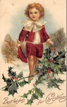 xms000169 - Christmas Post Card Old Vintage Antique Xmas Postcard