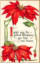 xms000171 - Christmas Post Card Old Vintage Antique Xmas Postcard