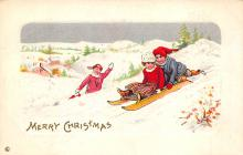 xms000175 - Christmas Post Card Old Vintage Antique Xmas Postcard