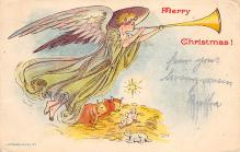 xms000185 - Christmas Post Card Old Vintage Antique Xmas Postcard