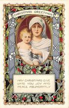 xms000195 - Christmas Post Card Old Vintage Antique Xmas Postcard