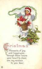 xms000197 - Christmas Post Card Old Vintage Antique Xmas Postcard