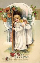 xms000201 - Christmas Post Card Old Vintage Antique Xmas Postcard