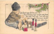 xms000203 - Christmas Post Card Old Vintage Antique Xmas Postcard