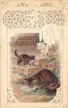 xms000207 - Christmas Post Card Old Vintage Antique Xmas Postcard