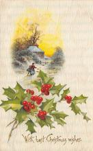 xms000211 - Christmas Post Card Old Vintage Antique Xmas Postcard