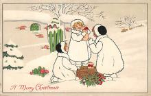 xms000215 - Christmas Post Card Old Vintage Antique Xmas Postcard