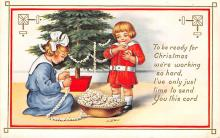 xms000217 - Christmas Post Card Old Vintage Antique Xmas Postcard