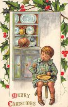xms000221 - Christmas Post Card Old Vintage Antique Xmas Postcard
