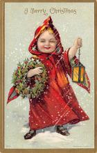 xms000229 - Christmas Post Card Old Vintage Antique Xmas Postcard