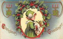 xms000231 - Christmas Post Card Old Vintage Antique Xmas Postcard