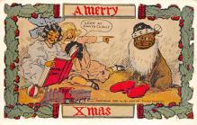 xms000233 - Christmas Post Card Old Vintage Antique Xmas Postcard