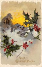 xms000235 - Christmas Post Card Old Vintage Antique Xmas Postcard