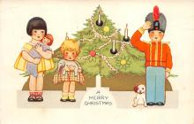 xms000241 - Christmas Post Card Old Vintage Antique Xmas Postcard