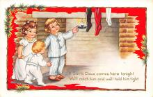 xms000245 - Christmas Post Card Old Vintage Antique Xmas Postcard