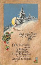 xms000249 - Christmas Post Card Old Vintage Antique Xmas Postcard