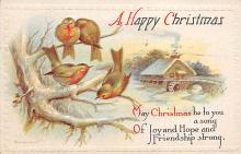 xms000257 - Christmas Post Card Old Vintage Antique Xmas Postcard