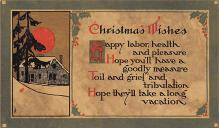 xms000267 - Christmas Post Card Old Vintage Antique Xmas Postcard