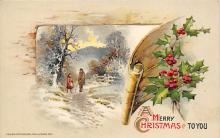 xms000269 - Christmas Post Card Old Vintage Antique Xmas Postcard