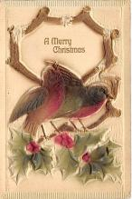 xms000271 - Christmas Post Card Old Vintage Antique Xmas Postcard