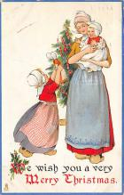xms000275 - Christmas Post Card Old Vintage Antique Xmas Postcard