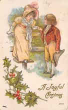 xms000277 - Christmas Post Card Old Vintage Antique Xmas Postcard