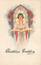 xms000279 - Christmas Post Card Old Vintage Antique Xmas Postcard