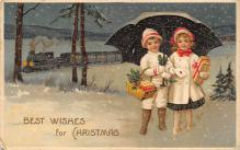 xms000281 - Christmas Post Card Old Vintage Antique Xmas Postcard
