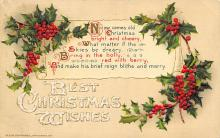 xms000287 - Christmas Post Card Old Vintage Antique Xmas Postcard