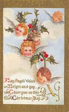 xms000299 - Christmas Post Card Old Vintage Antique Xmas Postcard