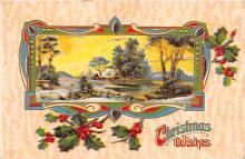 xms000303 - Christmas Post Card Old Vintage Antique Xmas Postcard