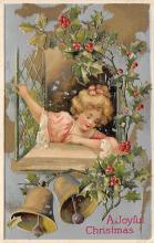 xms000309 - Christmas Post Card Old Vintage Antique Xmas Postcard